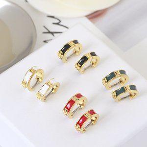 Tory Burch Simple Enamel Enamel Earrings